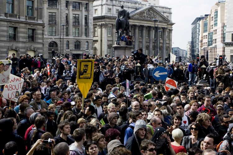 G20 protests in London, 2009. Image: Kashfi Halford